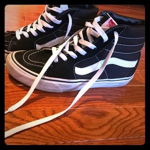 6e16e0b89a31 Shoes - VANS Sk8-Hi Black   White Shoes